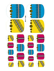 22PCS Kleurrijke Rits Patroon Cartoon Nail Art Sticker XJ Sery No.14