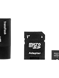 16GB Class 6 MicroSDHC TF Memory Card with SDHC SD Adapter and USB Card Reader