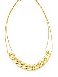 Golden Statement Necklaces Party / Daily / Casual Jewelry