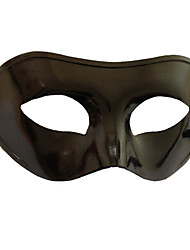 Mysterious  Flattop Black PVC Party Half-face Mask