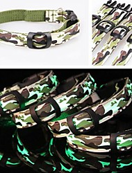 Adjustable Camouflage Night Safety LED Flash Collar For Pets Dogs(Assorted Sizes)