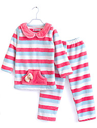Girl's Clothing Set,Striped Others Winter