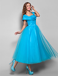 Cocktail Party / Homecoming / Holiday Dress - Plus Size / Petite Ball Gown Straps Tea-length Tulle