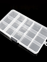 Minimalist Transparent Rectangular Multifunctional Storage Box - 15 Grids