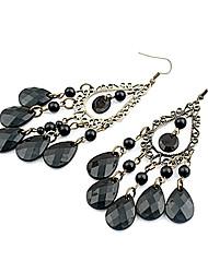 Earring Drop Earrings Jewelry Women Party / Daily Alloy / Acrylic Black