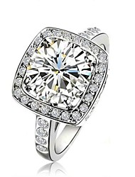 Claic Lady' 2.5CT Clear imulated Diamond Wedding Ring