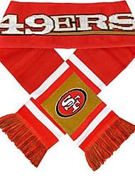 Поклонники шарф с полосой Knited согреться акриловая Мягкая команда логотип Тканые Графика для San Francisco 49ers