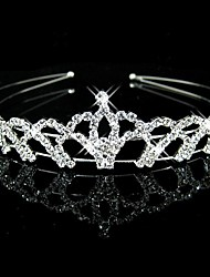 Women's / Flower Girl's Rhinestone Headpiece-Wedding Headbands Clear Round
