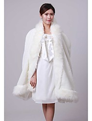 Wedding / Party/Evening Faux Fur Ponchos Fur Wraps