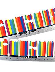 28PCS plein pointe Stripe Nail Art Stickers muraux