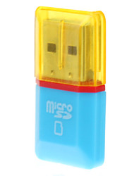 USB 2.0 Micro SD Memory Card Reader (blauw / geel)