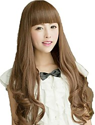 Roll Capless Full Bang Synthetic Long Wavy Wigs
