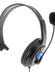 Unilateral Grandes auriculares para PS4 (Negro + azul)