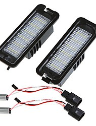 Pair Error Free 18 3528 SMD LED License Plate Light Lamp for Golf Passat CC Eos