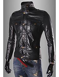 chaqueta corta de cuero de la PU de los hombres