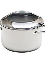 6.5 QT Stainless Steel and Glass Soup Pot,W24cm x H13.5cm