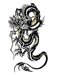 5 Pcs Black Dragon Waterproof Temporary Tattoo(10.5cm*20.5cm)HM229