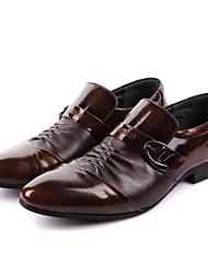 Zapatos de Hombre Boda/Exterior/Oficina y Trabajo/Casual/Fiesta y Noche Cuero Oxfords Negro/Marrón