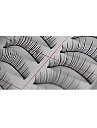 10 Pairs Pro High Quality Hand Made Synthetic Fiber Hair Natural Thin Long Style False Eyelashes
