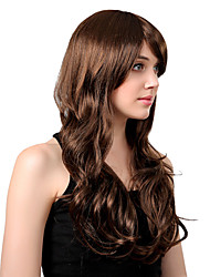 Charm Personality Popular Waves Rolled Dark Brown Lady'S Synthetic Wig