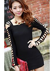 Chijing Sexy Strapless vestido de malha