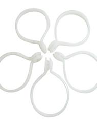 Clássico Interno Branco ringent Clipe Ring (diâmetro 3,5 cm)