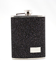 Gift Groomsman /Bridesmaid Personalized Nice 8-oz Flask In Leatherete Cover (More Colors)