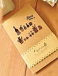 Cut-out Coffee & Tea Design Cartão