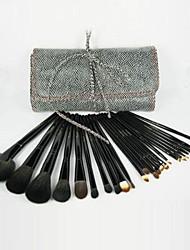 24Pcs Professional High Quality Snake Pattern Makeup Brush Set