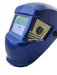 Azul LI Bateria Solar Auto Escurecimento Welding Helmet elétrica