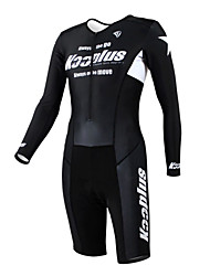KOOPLUS - Triathlon Black+White Long Sleeve Wear and Shorts Conjoined Cycling Clothing