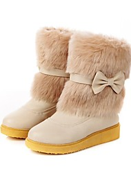 Women's Fashion Thick-soled Mid-calf Boots with Flexible Bowknot  (More Colors)