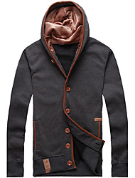 Fitspace Hombre Gris Oscuro Cardigan con capucha
