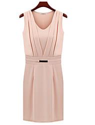 MFL Metal Decorating Ärmelloses Kleid (Pink)