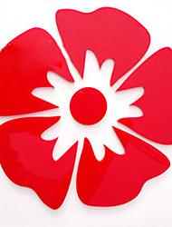 1pc rouge floral mur Stickers 3D