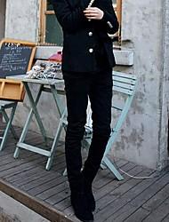 Fasion Hombre Solid Jeans color delgado