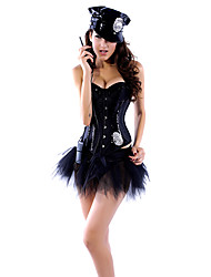 Women Overbust Corset , Acrylic/Spandex Lace Up