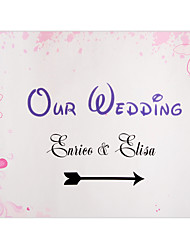 Personalized Pink Flower Pattern Wedding Indicator