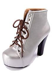 Las mujeres de piel de Plataforma Botines Moda Shoes (más colores)