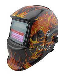 Skull Fire Pattern Li Battery Solar Auto Darkening Welding Cap