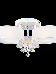 Max 40W Flush Mount ,  Modern/Contemporary Painting Feature for Crystal Metal Living Room / Bedroom / Dining Room