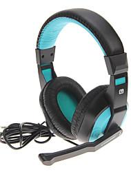 Over-Ear-Stereo-Kopfhörer mit Bass-Sound (blau)