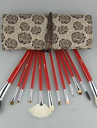 7 Pcs escova da composição Flor Padrão Lã Set com o processo Grátis