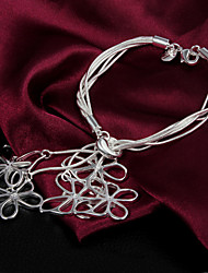 High Quality Sweet Silver Silver-Plated Pierced Butterfles Charm Bracelets