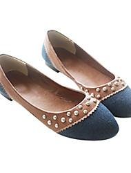 Демин женская плоским пятки балетки туфли с раздельным сустава (больше цветов)
