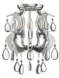 Cristal Montagem Embutida, 5 Light, Luxo Ferro Galvanoplastia