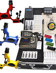 Tattoo Kit 14 color Ink Power Supply 3 Machine Guns