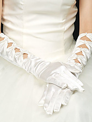 Elbow Length Fingertips Glove Elastic Satin Bridal Gloves Party/ Evening Gloves Spring Summer Fall
