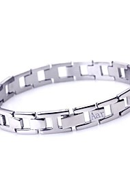 Personalized Gift  Men's Jewelry Simple Design Stainless Steel  Engraved ID Bracelets 1cm Width