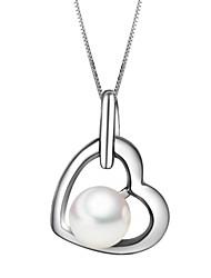 925 Silver Pearl des femmes pour toujours le collier d'amour